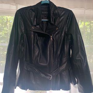 Eloquii size 18p Black Peplum Leather Jacket